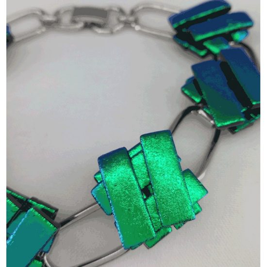 Emerald Green-Bracelet Silver Plated