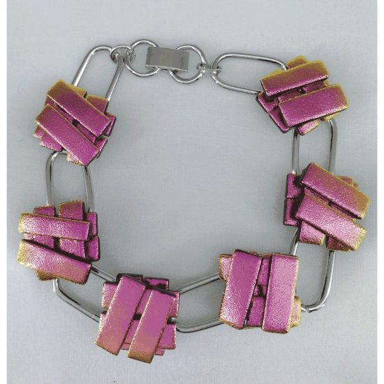 Pink -Bracelet Silver Plated