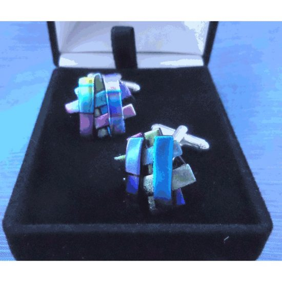 Tropical Rays-Cufflinks- Silver Plated
